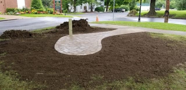 Gravel for new grass